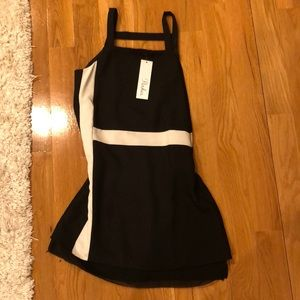 Parker black and white shift dress